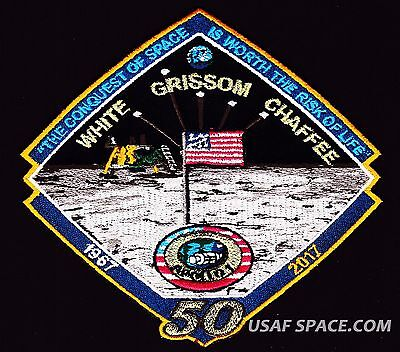 APOLLO -1 - 50th  ANNIVERSARY -WHITE GRISSOM CHAFFEE- Tim Gagnon SPACE PATCH