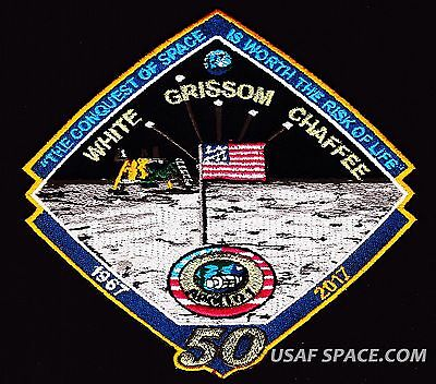 NEW APOLLO -1 - 50th  ANNIVERSARY -WHITE GRISSOM CHAFFEE- Tim Gagnon SPACE PATCH