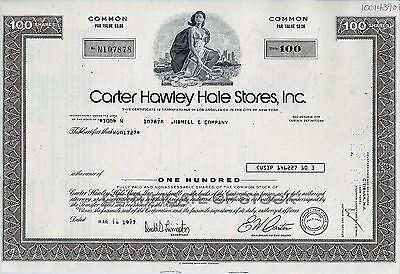 Carter Hawley Hale Stores Inc., California, 1977  (100 Shares)