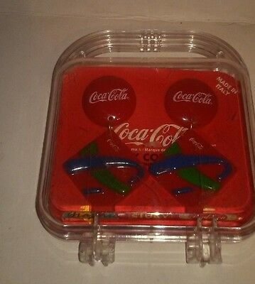 Coca Cola Coke Jewelry Collection Earrings Vintage