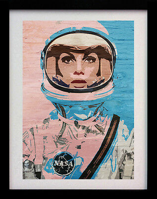 Astronaut Space Girl Pop Art A3 Street Poster Print - Limited Edition Of 100