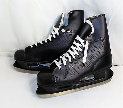Pair Mens SEM Ice Skates size 12, Marked Canada and Made in USA, Exceptional