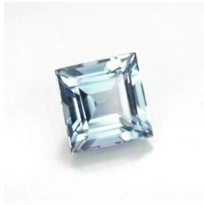 "NATURAL AQUAMARINE A 6mm x 6mm SQUARE CUT GEM GEMSTONE ""A"" GRADE"