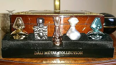 Rare Salvador Dali Metal Collection Edt Perfume Bottles New & Boxed Miniatures