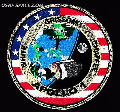 "NEW APOLLO -1 - 50th  ANNIVERSARY - Commemorative #1- Tim Gagnon 5""  SPACE PATCH"