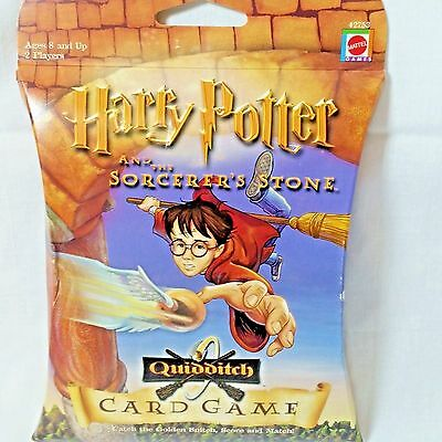 Quidditch Card Game Harry Potter and the Sorcerers Stone Mattel NIB Made In USA