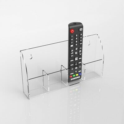 TV Remote Control Holder Wall Mount Acrylic Organiser Box Acrylic Holder