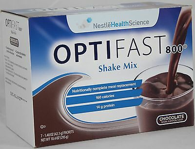 Optifast® 800 Powder Shakes | 1 Case | Chocolate | 84 Servings | 12 Cartons