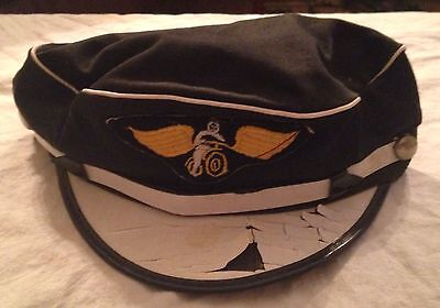 Vintage Original 1950's Motorcycle Hat Harley Indian Triumph AMA Size 6 3/4""