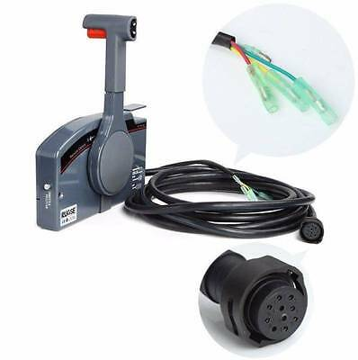 New Outboard Remote Control Box With 10Pin Cable Right Side PUSH Throttle OEM