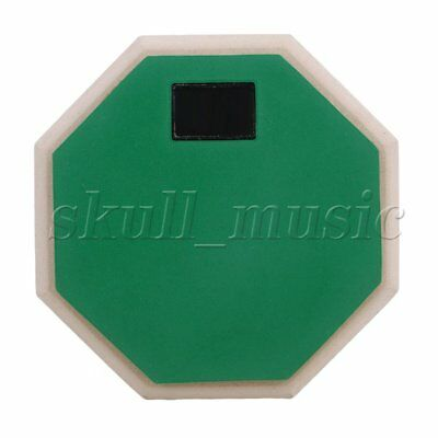 165mm x 27mm Green Rubber Wood Portable 2-Sided Practice Pad BQLZR