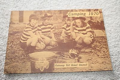 Vintage 1970 Gateway Girl Scout Council Camping Book Itinerary