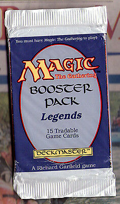 Magic The Gathering CCG LEGENDS SEALED BOOSTER PACK 15 cards still in original