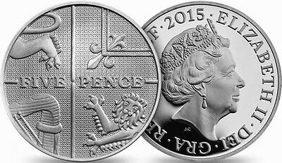 Five pence (5p) 2008 2009 2010 2011 2012 2013 2014 2015