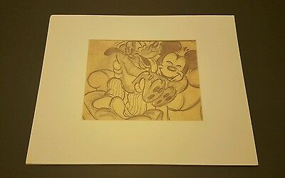 Pluto's Dream Original Print / Lithograph from Disney Parks, Mickey Mouse