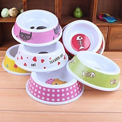 Plastic Pet Dog Cat Puppy Go Slow Eating Feed Bowl Food Water Feeder Dish