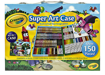 Crayola Land Super Inspiration Over 150 Pieces All in One Art Case 047555