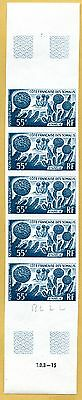 MNH Somali Coast Proof/Imperf Strip of 5 (Lot #scs86)