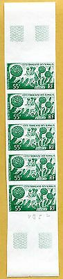 MNH Somali Coast Proof/Imperf Strip of 5 (Lot #scs87)