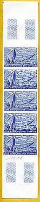 MNH Somali Coast Proof/Imperf Strip of 5 (Lot #scs43)