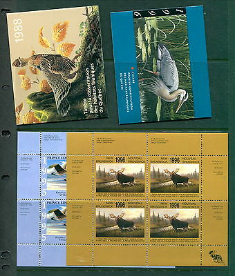 Large Group of MNH Provincial Wildlife Conservation Stamps (Lot #WF31)