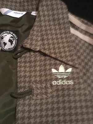 Adidas Materials Of The World Rare Ltd Ed Houndstooth Track Suit Shawl Womens S