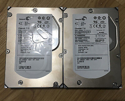 "Lot of 2 Seagate ST3300555SS Cheetah T10 300GB 10K SAS 3.5"" Hard Drive"