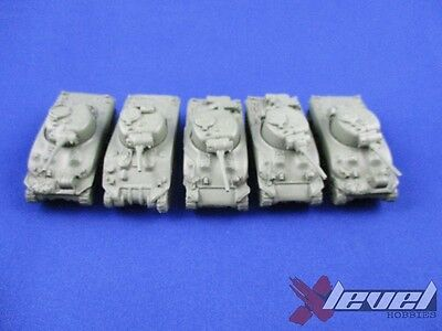 M4 Sherman [Resin and Metal] [x5] USA [Flames of War] Primed