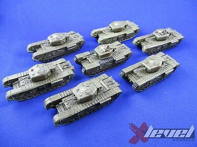 BR072 Churchill III [x7] British [Flames of War] Painted