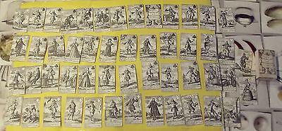 ANCIEN RAR JEU 54 CARTES Pasquins Windkaart op de Windnegotie Van 't Iaar 1720 :