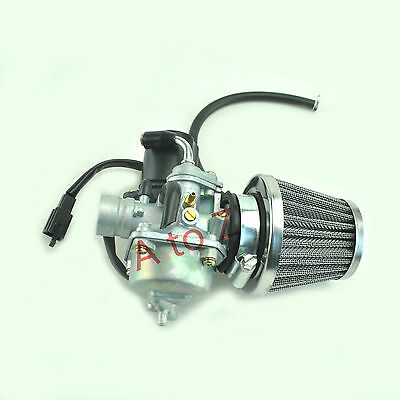 CARBURETOR &AIR FILTER for ETON 50cc 90cc 100cc Viper 50 90 2-Stroke RXL50  RXL90