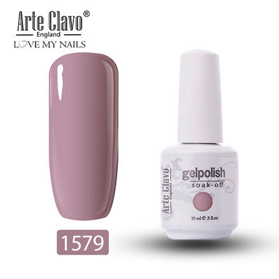 Arte Clavo 15ml Gelish Soak Off UV LED Base Top Coat Color Gel Nail Polish 1579