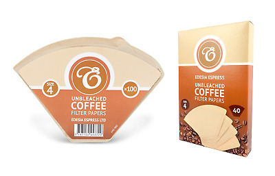 Unbleached Coffee Filters Papers Cones 1-4 Cups Size 4 Espresso