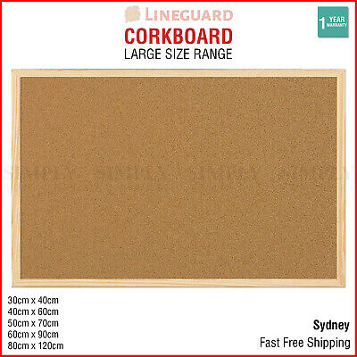 Cork Board Pins Corkboard Pinboard Notice Large Memo Photos Wooden Frame Wall