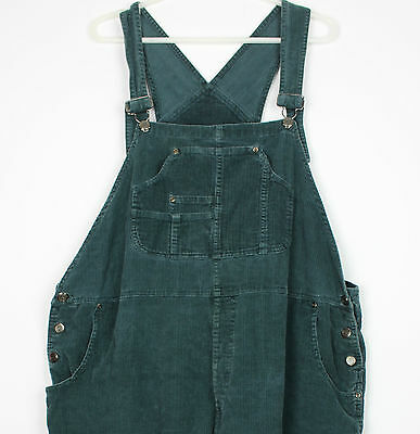Vintage Corduroy Ladies Dungarees Festival Grunge Overalls Womens Playsuit XXXL