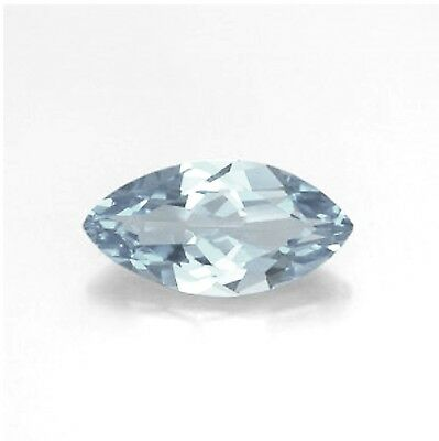 "NATURAL AQUAMARINE A 12mm x 6mm MARQUISE / NAVETTE CUT GEM GEMSTONE ""A"" GRADE"