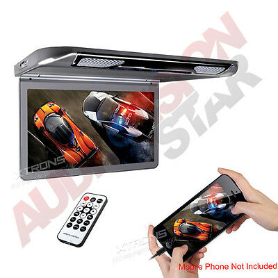 "XTRONS Ultra-thin Car Roof Mount Overhead Monitor 13.3"" Wide Screen HDMI AUX USB"