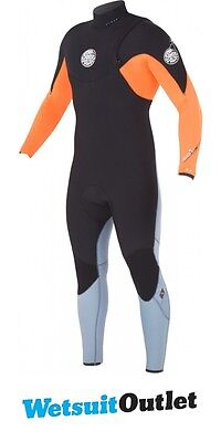 2015 Rip Curl 4/3mm E Bomb Pro Zip Free Wetsuit in Orange WSM4QE