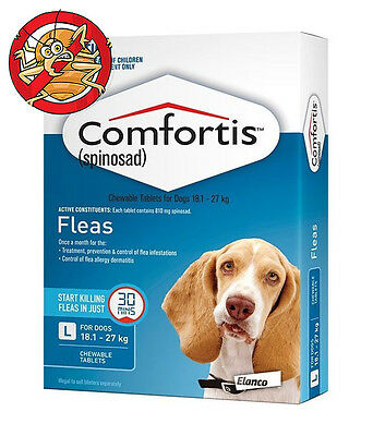 Blue Comfortis For Dogs 18 - 27kg Tasty Flea Treatment Tablets for Dogs