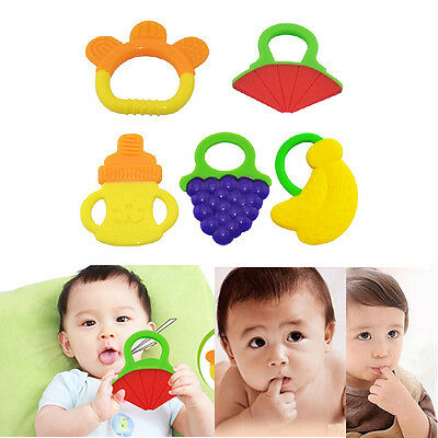 Adorable Glister Baby Infant Safety Teeth Stick Teether Rear Molar Silicone SL