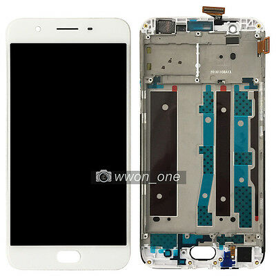 New 5.5'' White Oppo F1S  Touch Screen Digitizer LCD Display Assembly with Frame