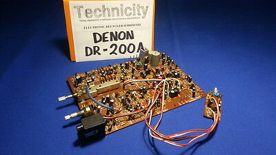 Denon Dr- 200 A - Tape Deck -Motherboard -  Mainboard - Placa Base