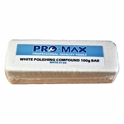 Pro-Max 100g Bar White Steel & Stainless Steel Metal Polishing Buffing Compound
