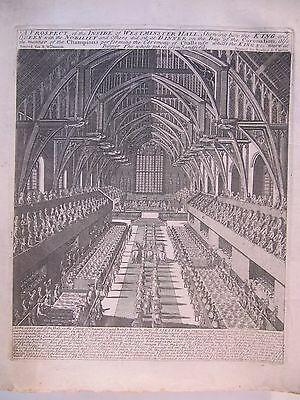 17th CENTURY, Copper Plate Engraving, A PROSPECT OF THE INSIDE OF WESTMINSTER...