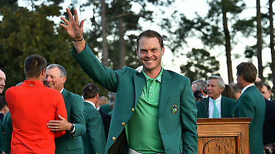 "Danny Willett The Masters 12"" x 8"" photograph"