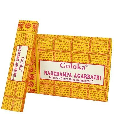 Incienso Nag Champa, Goloka, Super hit Caja ... (12 Paquetes)