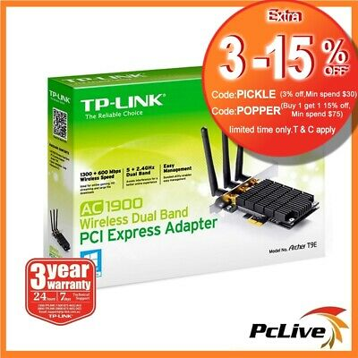 TP-Link Archer T9E 1900mbps Dual Band Wireless PCI Express Adapter WIFI AC1900