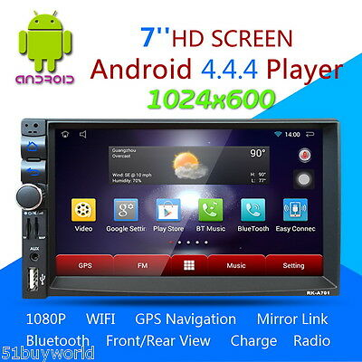 "7""Coche Reproductor 3G Android 4.4.4 GPS 1080P 2DIN WIFI Bluetooth Radio FM SD"