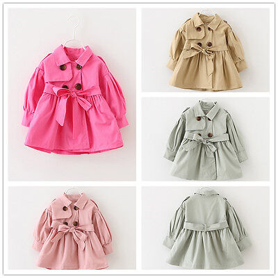 Infant Newborn baby Girl Spring Outerwear double-breasted Coat Kids Girl Clothes