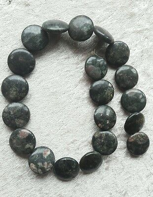 1 LOT DE 15 Perles en Jade ronde 25 mm